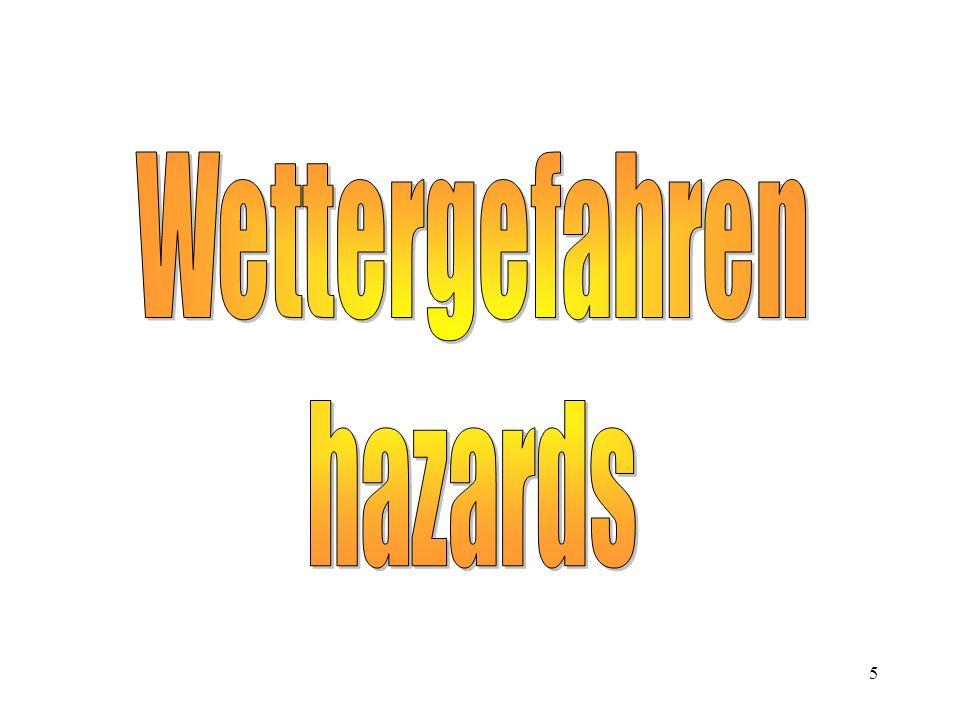 Wettergefahren hazards