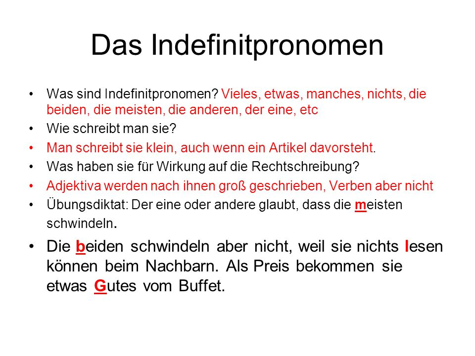 Das Indefinitpronomen