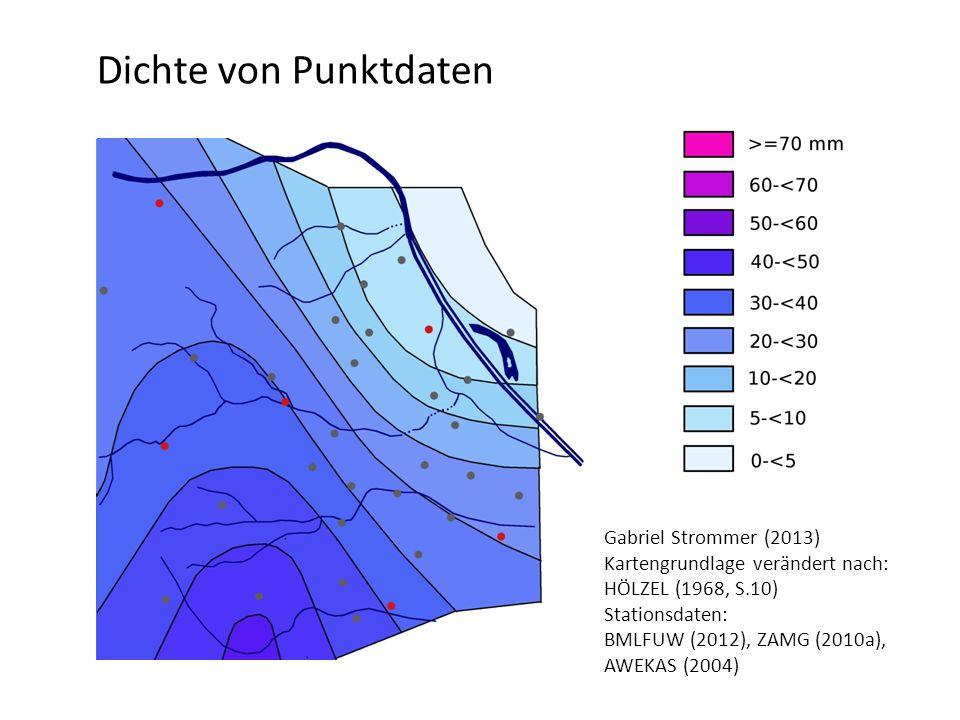 Dichte von Punktdaten Gabriel Strommer (2013)