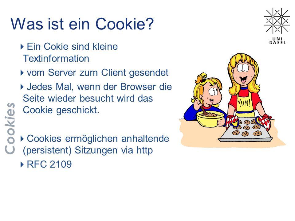 Was ist ein Cookie Cookies Ein Cokie sind kleine Textinformation