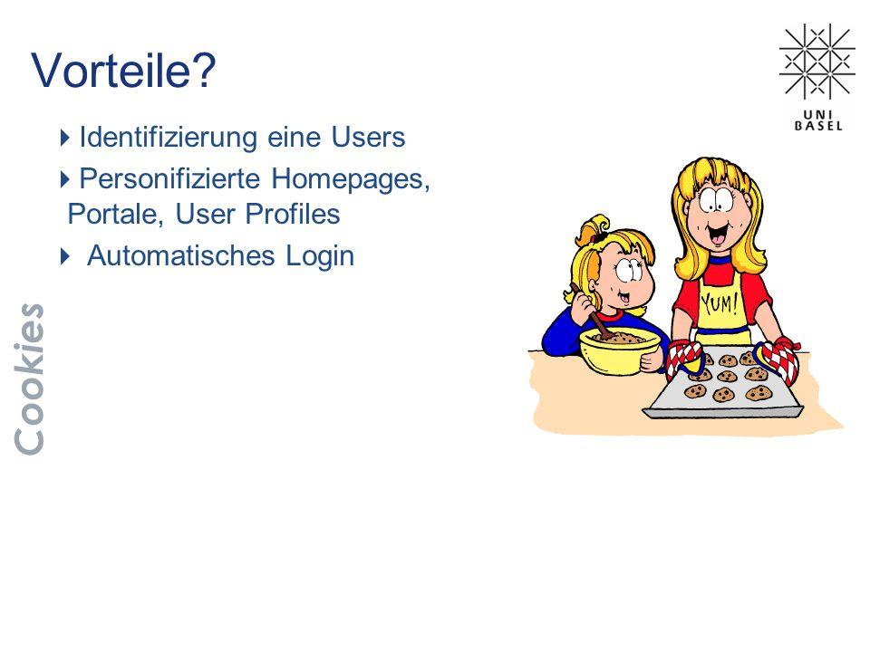 Vorteile Cookies Identifizierung eine Users