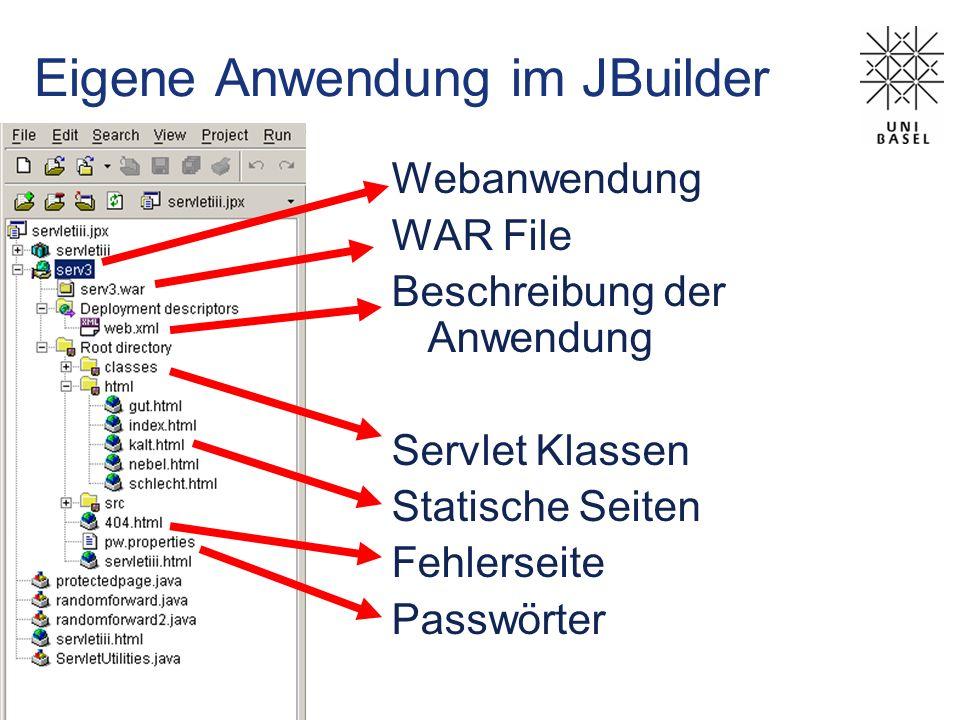 Eigene Anwendung im JBuilder
