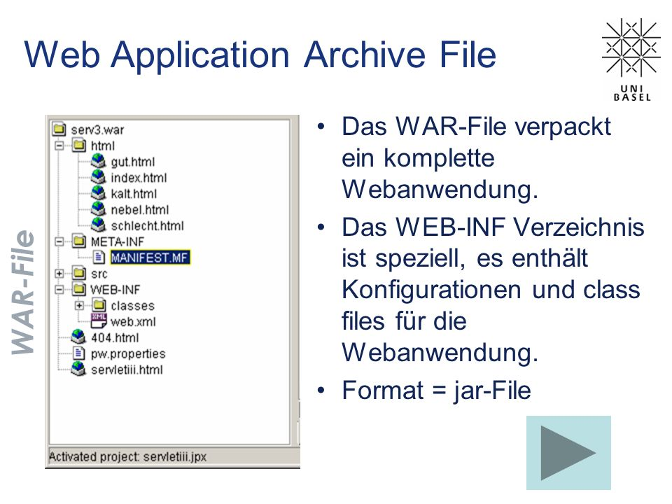 Web Application Archive File