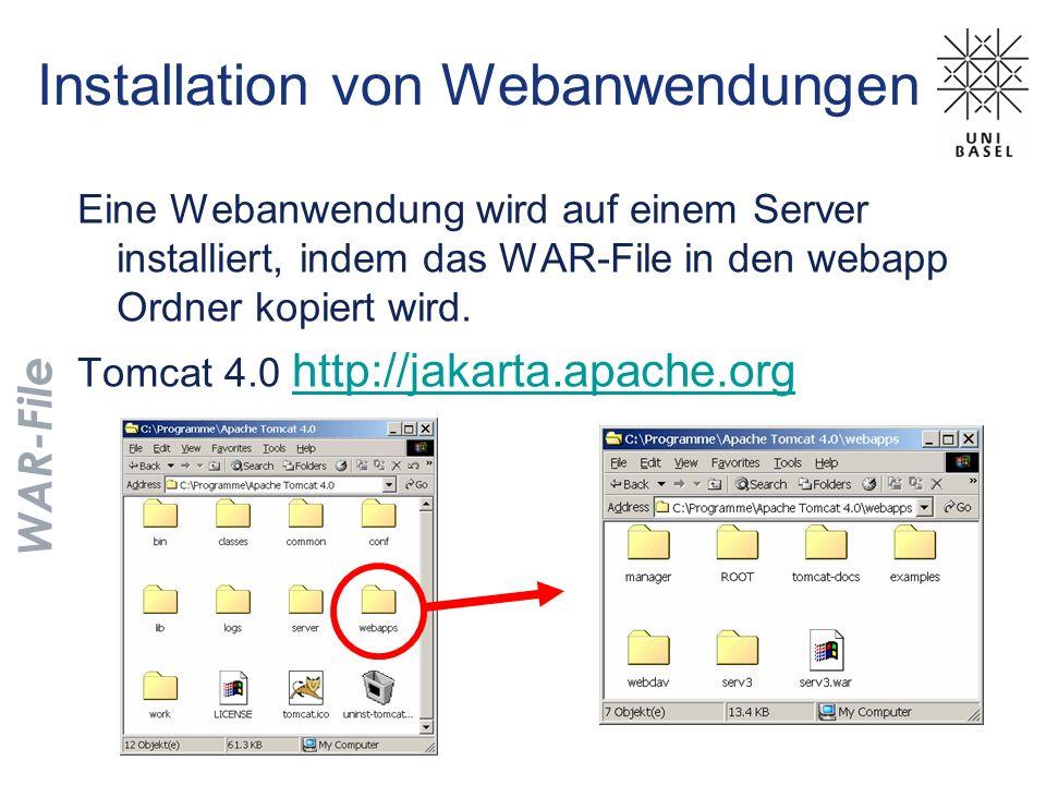Installation von Webanwendungen