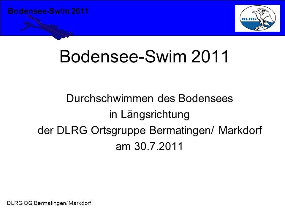 Bodensee-Swim 2011 Durchschwimmen des Bodensees in Längsrichtung