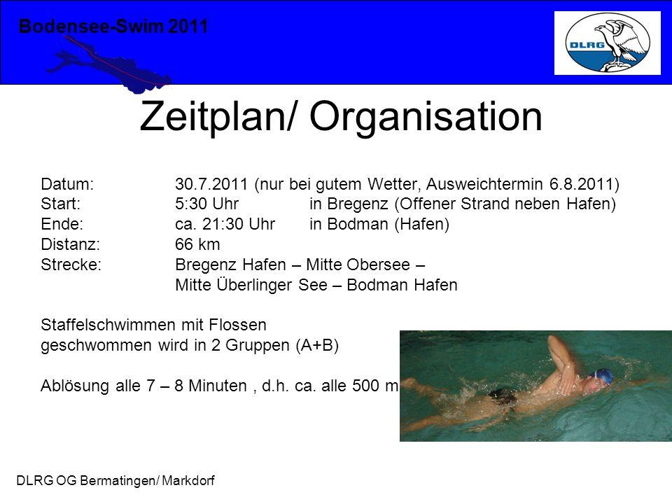 Zeitplan/ Organisation