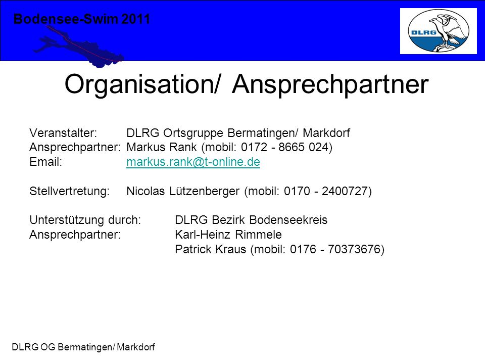 Organisation/ Ansprechpartner