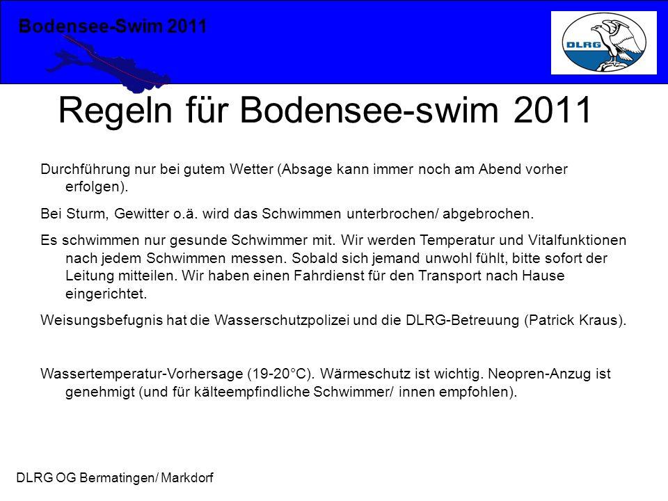 Regeln für Bodensee-swim 2011