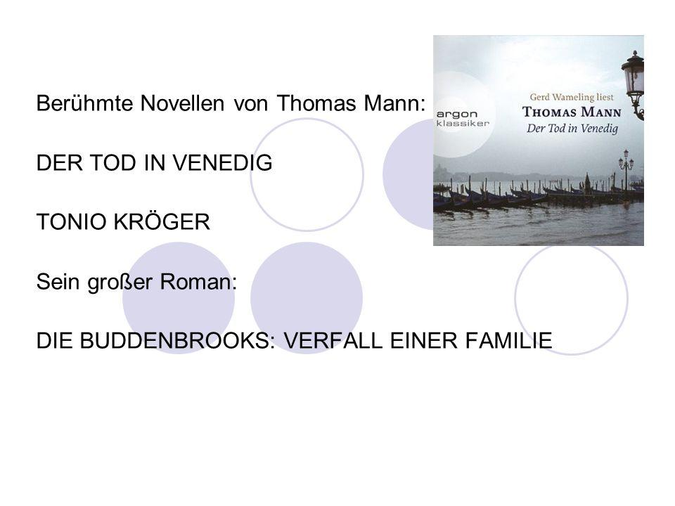 Berühmte Novellen von Thomas Mann: