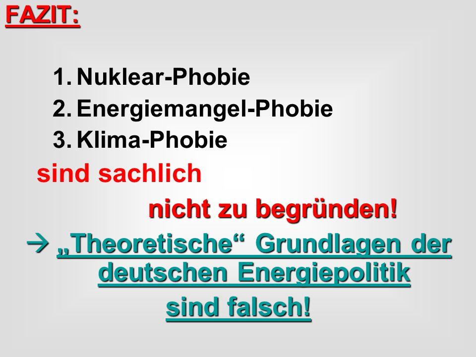 """""""Theoretische Grundlagen der deutschen Energiepolitik"""
