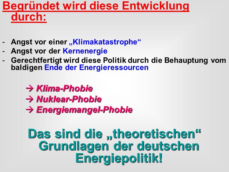 """Das sind die """"theoretischen Grundlagen der deutschen Energiepolitik!"""