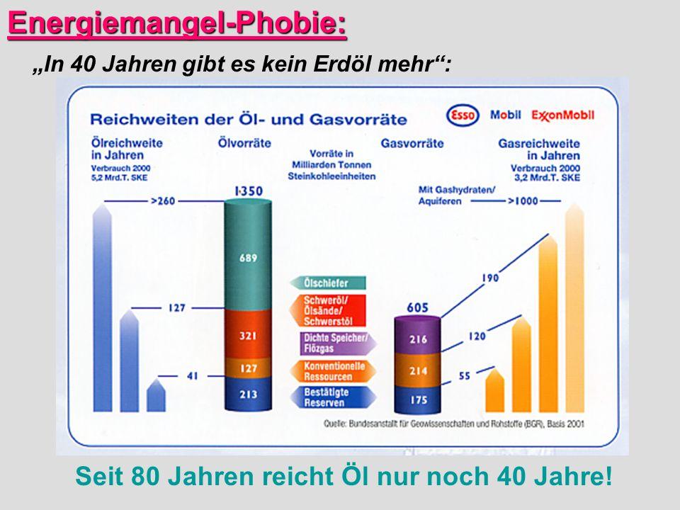Energiemangel-Phobie:
