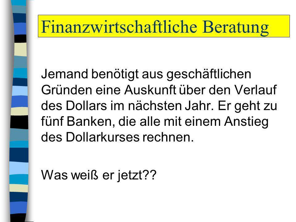 Finanzwirtschaftliche Beratung