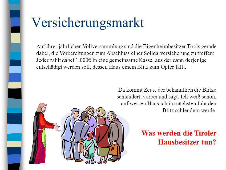 Versicherungsmarkt Was werden die Tiroler Hausbesitzer tun