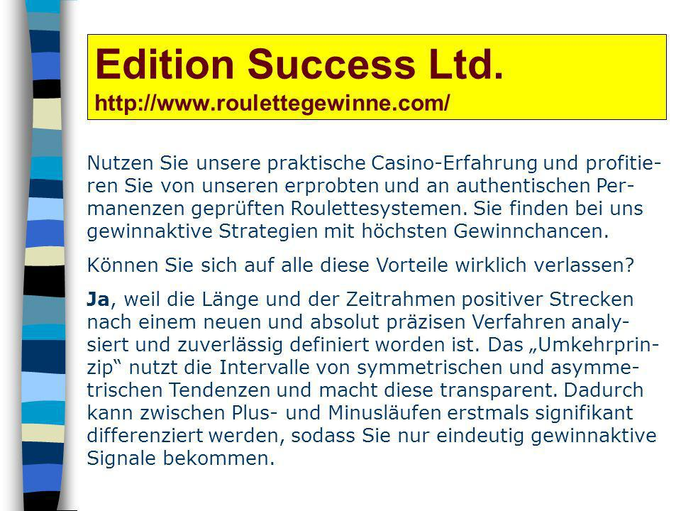 Edition Success Ltd. http://www.roulettegewinne.com/