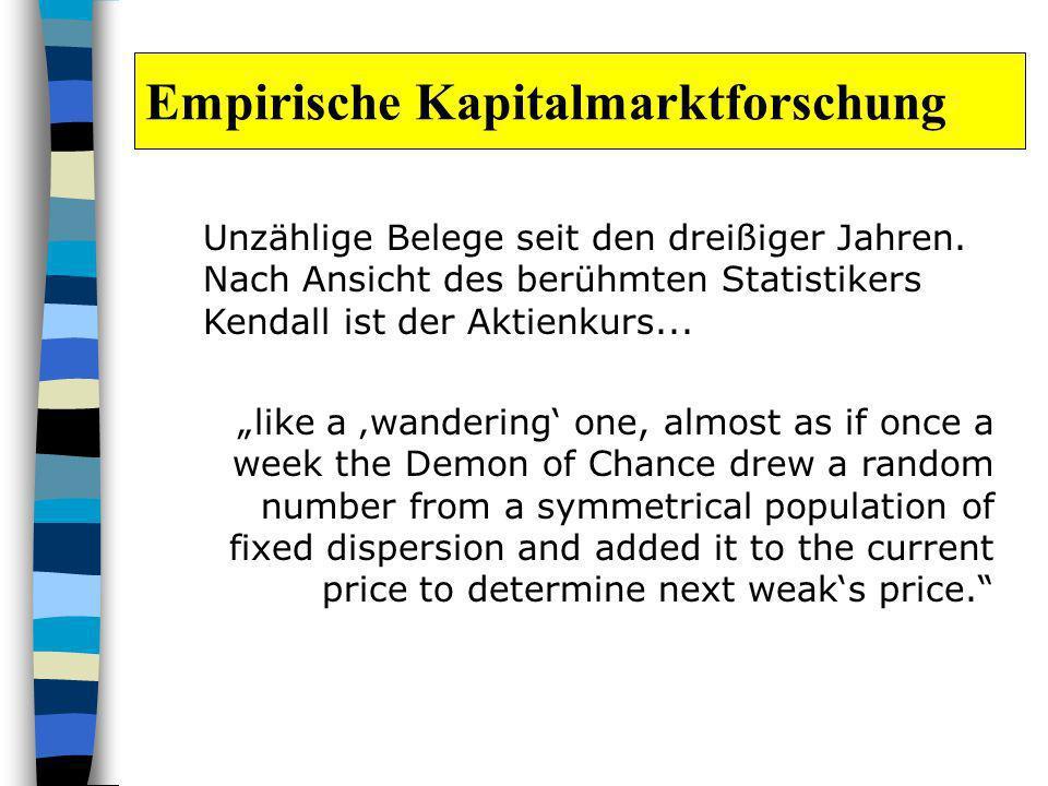 Empirische Kapitalmarktforschung