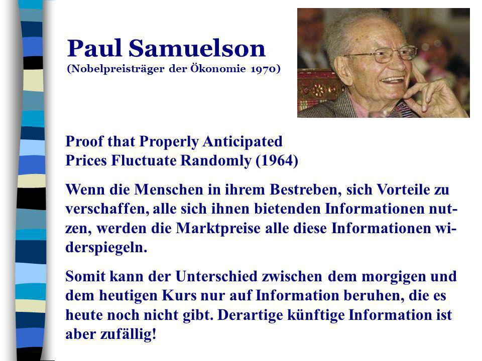 Paul Samuelson (Nobelpreisträger der Ökonomie 1970)