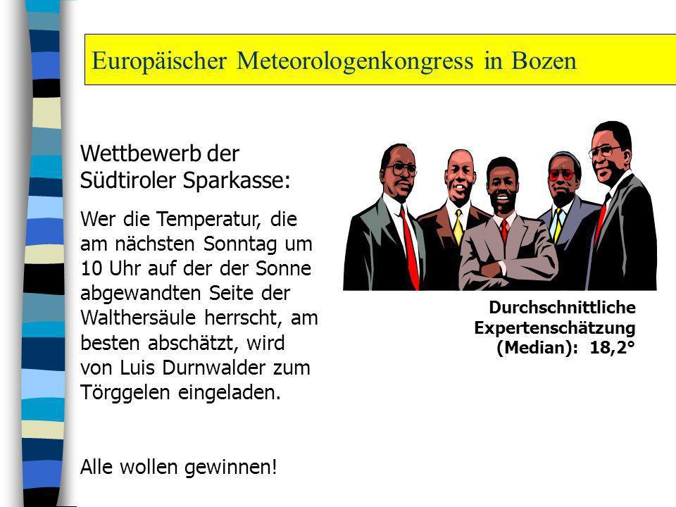 Europäischer Meteorologenkongress in Bozen