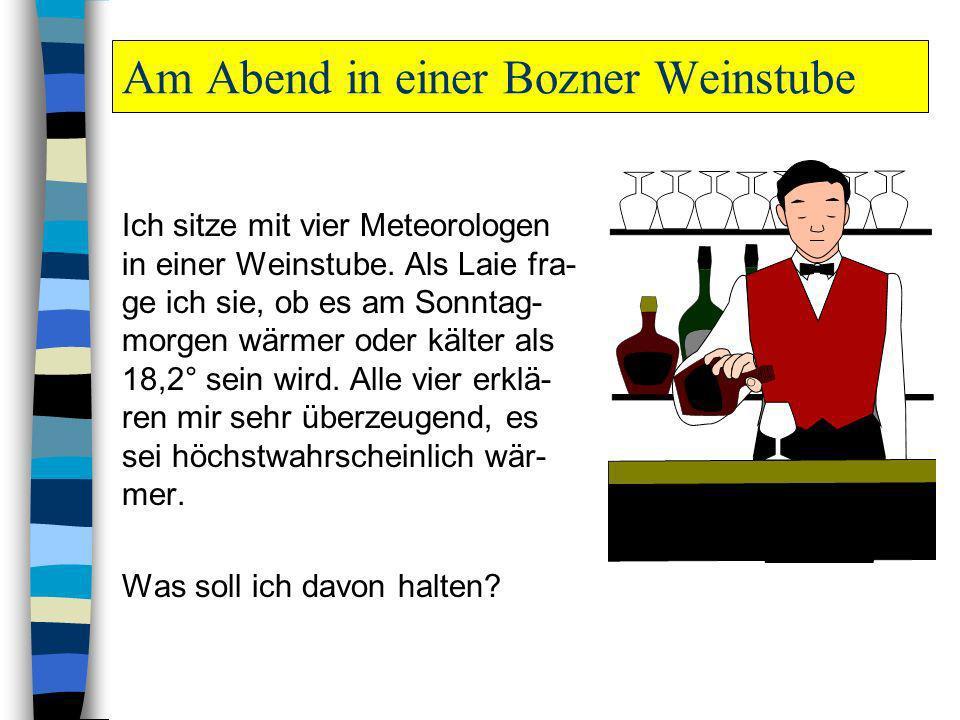 Am Abend in einer Bozner Weinstube