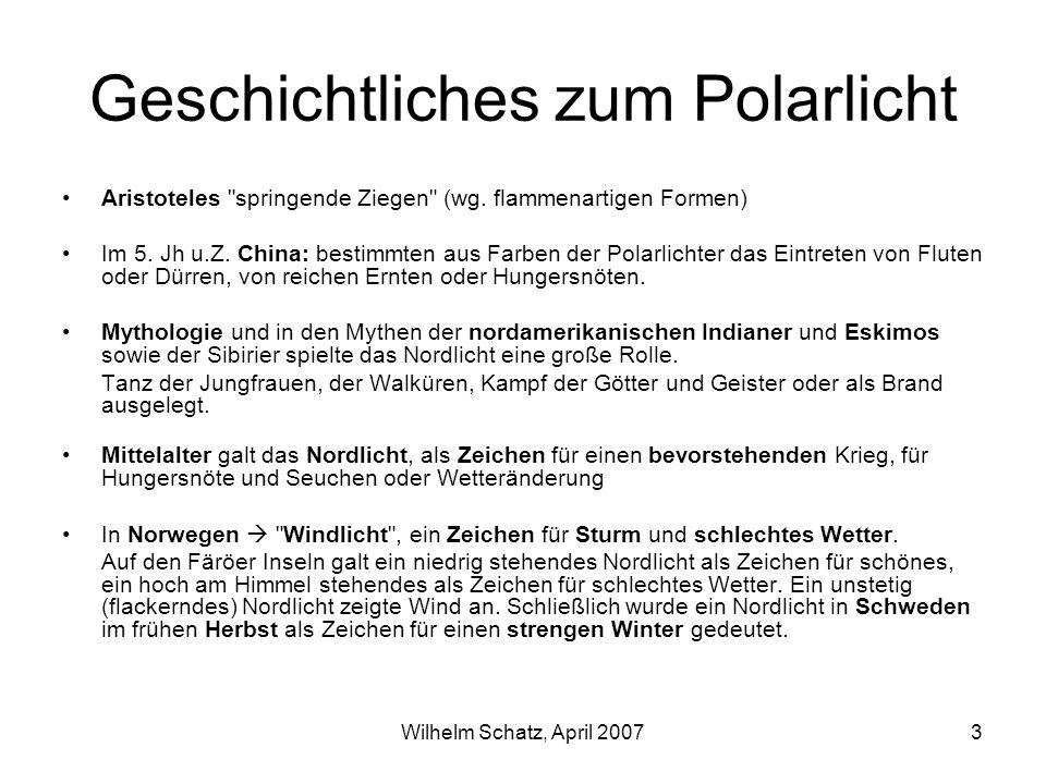 Geschichtliches zum Polarlicht