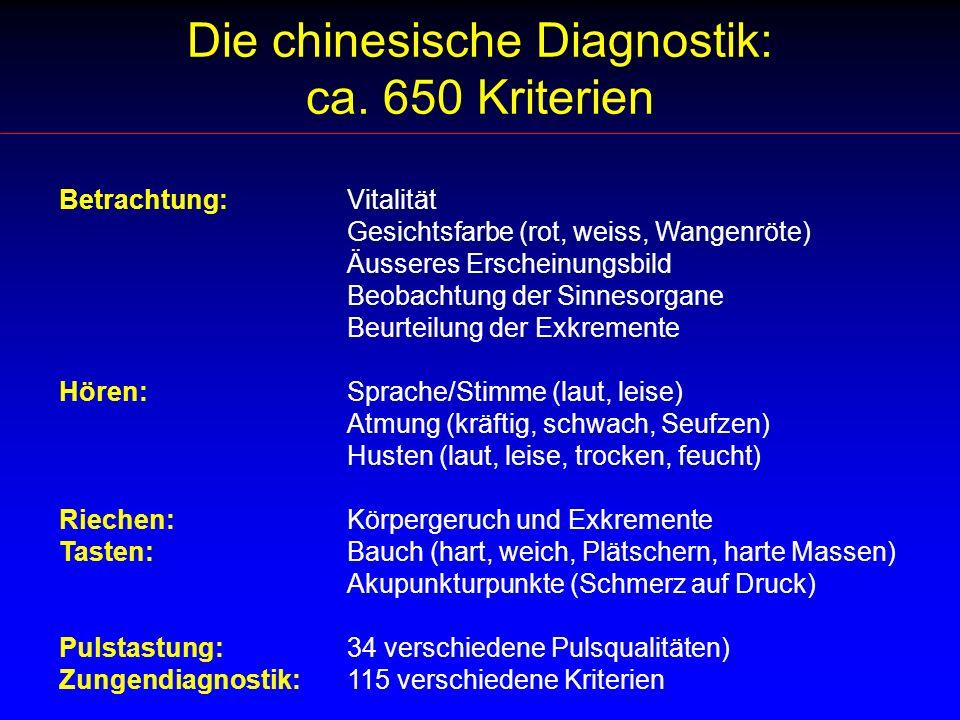 Die chinesische Diagnostik: ca. 650 Kriterien