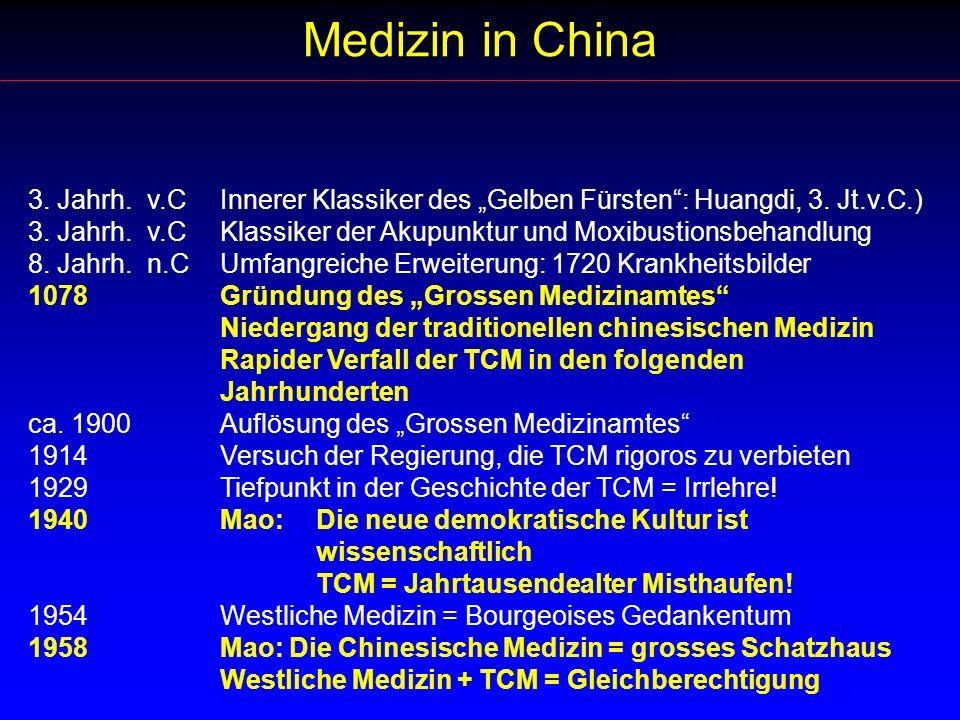 """Medizin in China 3. Jahrh. v.C Innerer Klassiker des """"Gelben Fürsten : Huangdi, 3. Jt.v.C.)"""