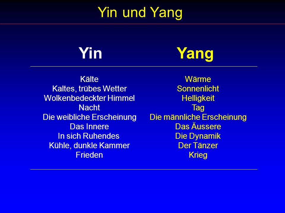Yin Yang Yin und Yang Kälte Kaltes, trübes Wetter