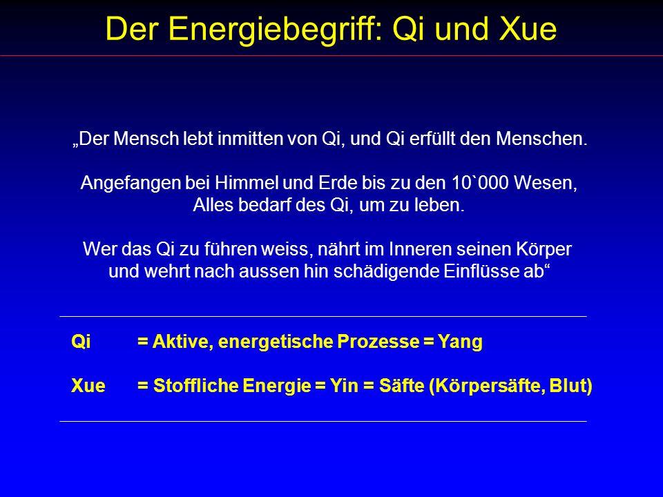Der Energiebegriff: Qi und Xue