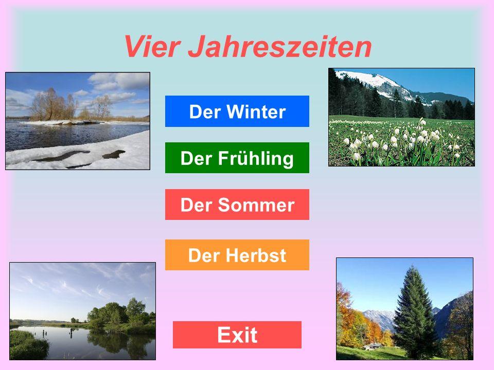 Vier Jahreszeiten Der Winter Der Frühling Der Sommer Der Herbst Exit