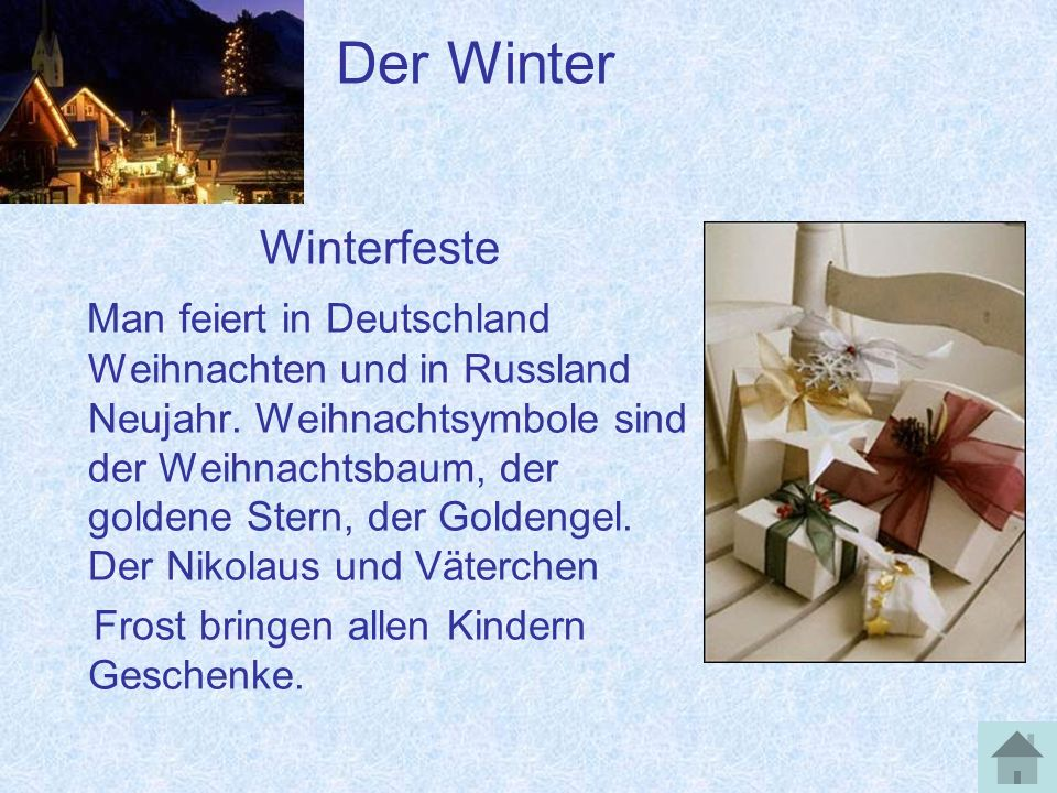 Der Winter Winterfeste