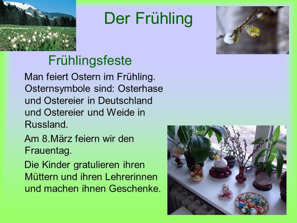 Der Frühling Frühlingsfeste