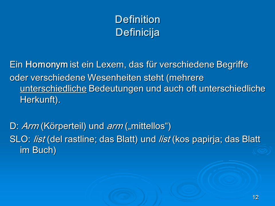Definition Definicija