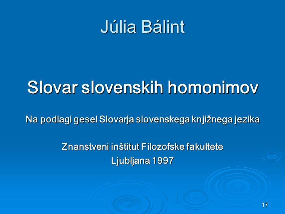 Slovar slovenskih homonimov