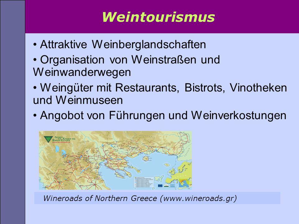 Weintourismus Attraktive Weinberglandschaften