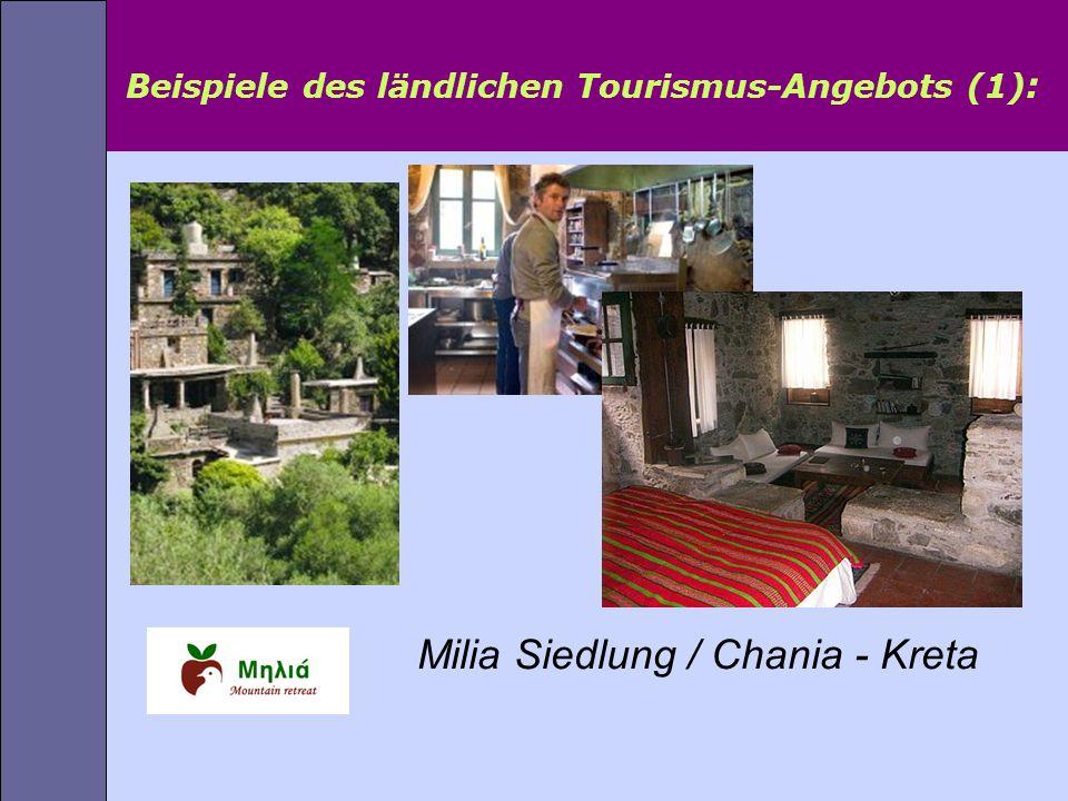 Beispiele des ländlichen Tourismus-Angebots (1):