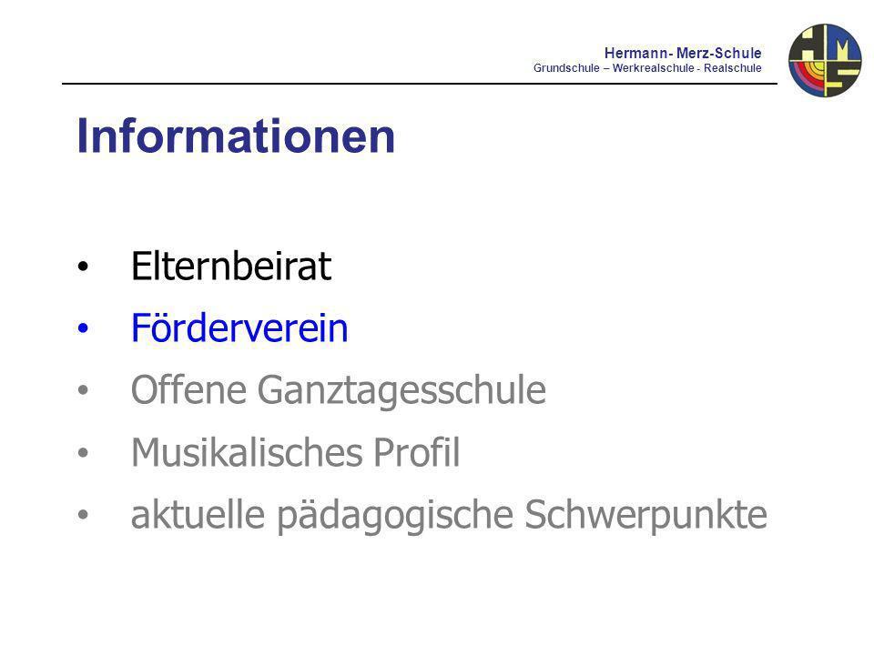 Informationen Elternbeirat Förderverein Offene Ganztagesschule