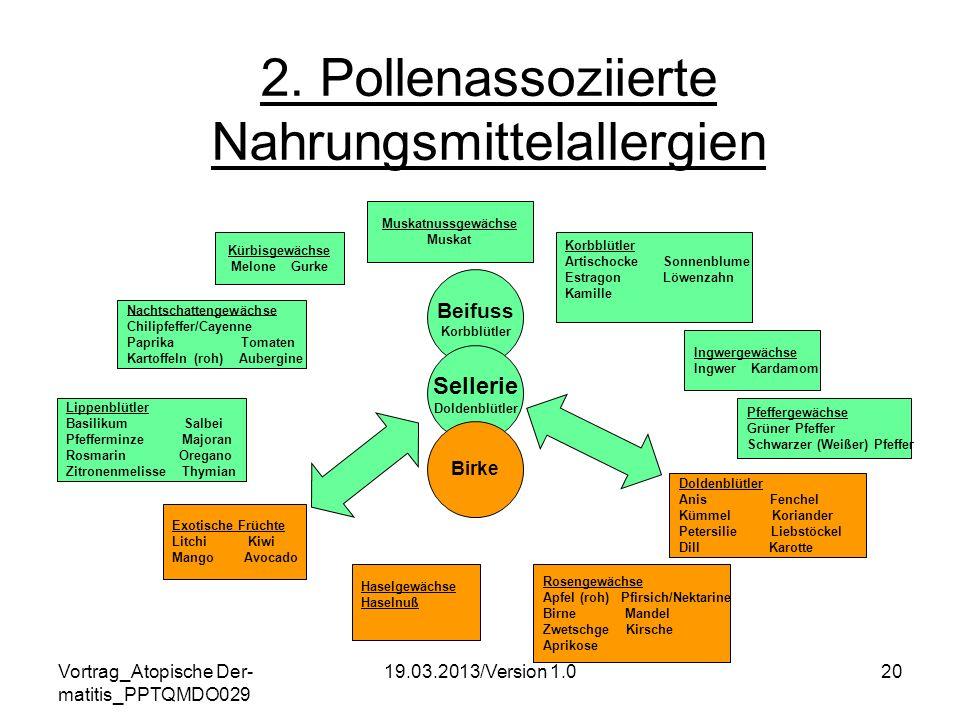 2. Pollenassoziierte Nahrungsmittelallergien