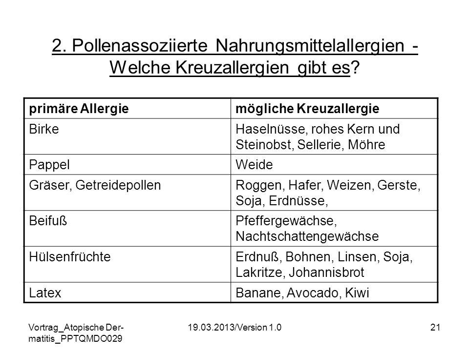 2. Pollenassoziierte Nahrungsmittelallergien - Welche Kreuzallergien gibt es
