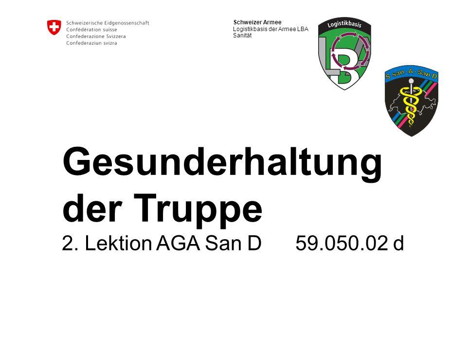 Gesunderhaltung der Truppe 2. Lektion AGA San D 59.050.02 d
