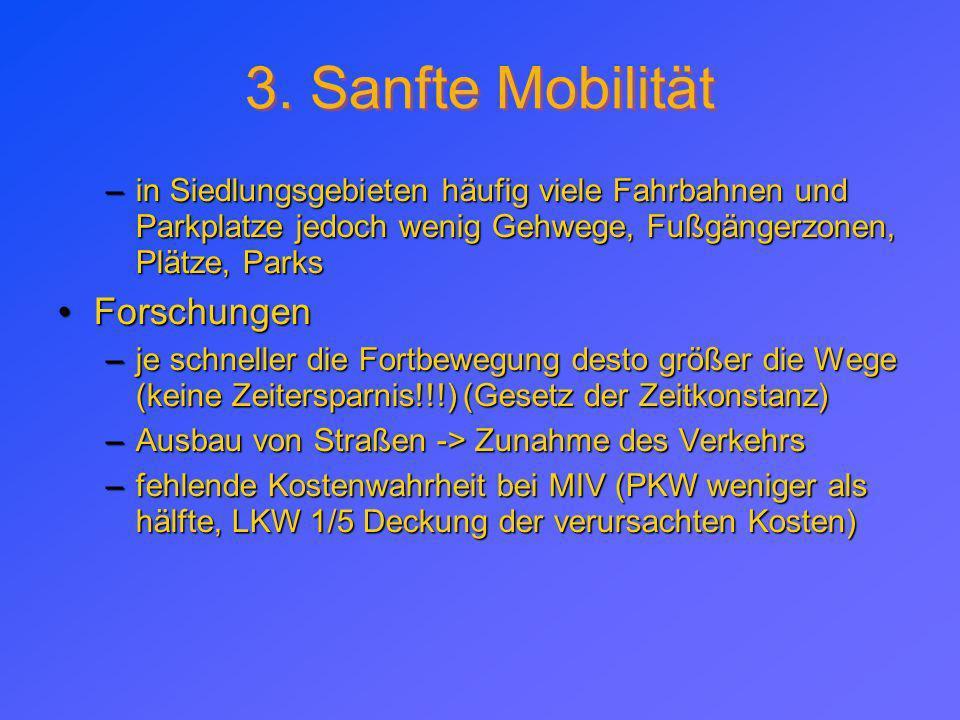 3. Sanfte Mobilität Forschungen