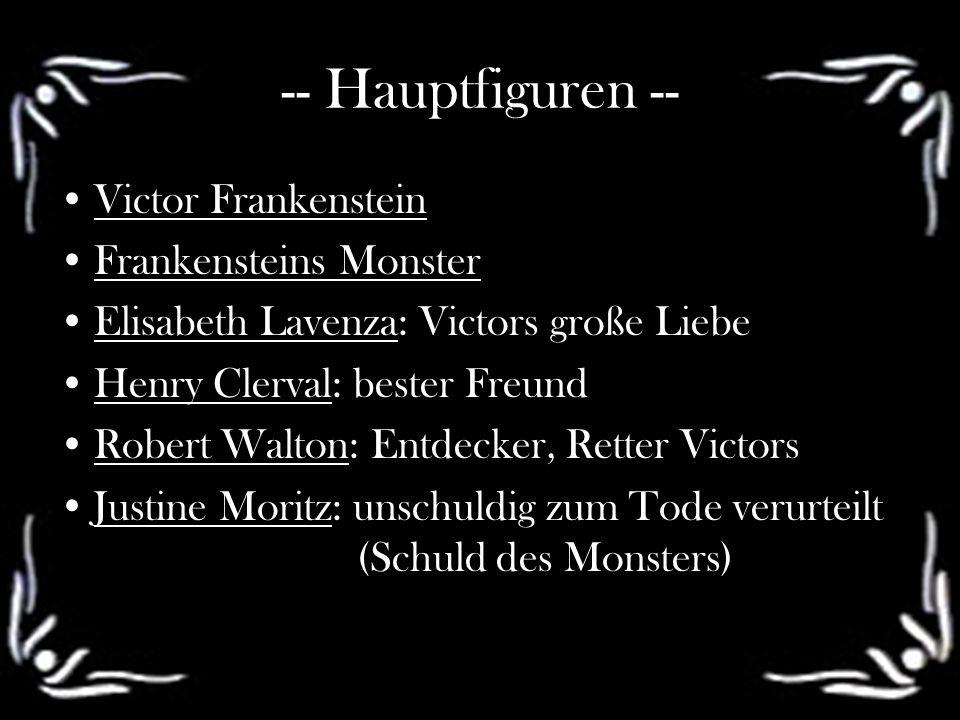 -- Hauptfiguren -- Victor Frankenstein Frankensteins Monster