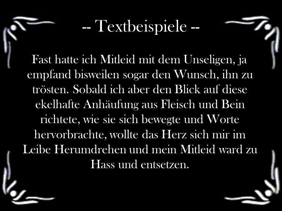 -- Textbeispiele --
