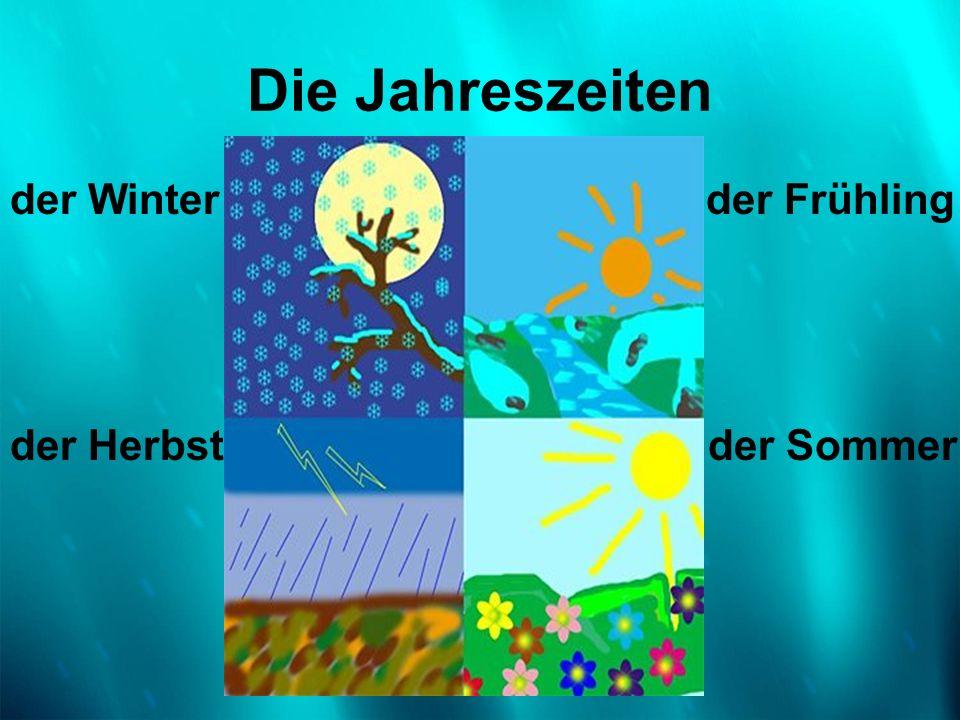 Die Jahreszeitender Winter der Frühling.