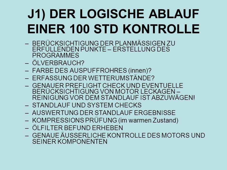 J1) DER LOGISCHE ABLAUF EINER 100 STD KONTROLLE