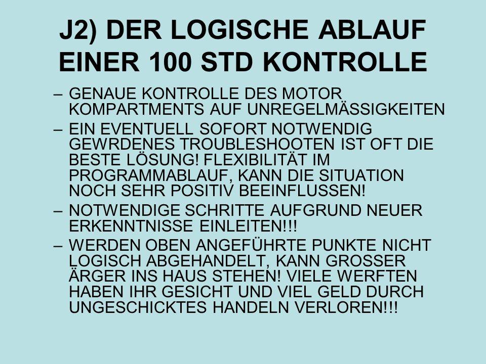 J2) DER LOGISCHE ABLAUF EINER 100 STD KONTROLLE
