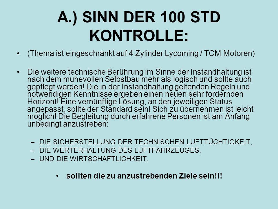 A.) SINN DER 100 STD KONTROLLE: