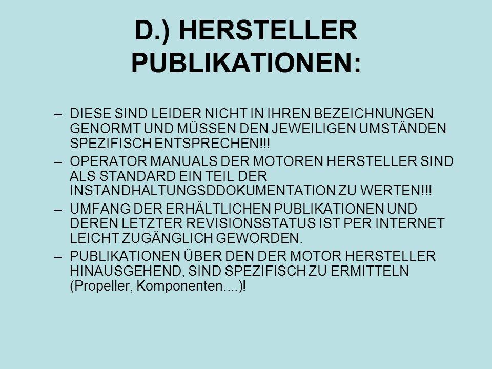 D.) HERSTELLER PUBLIKATIONEN:
