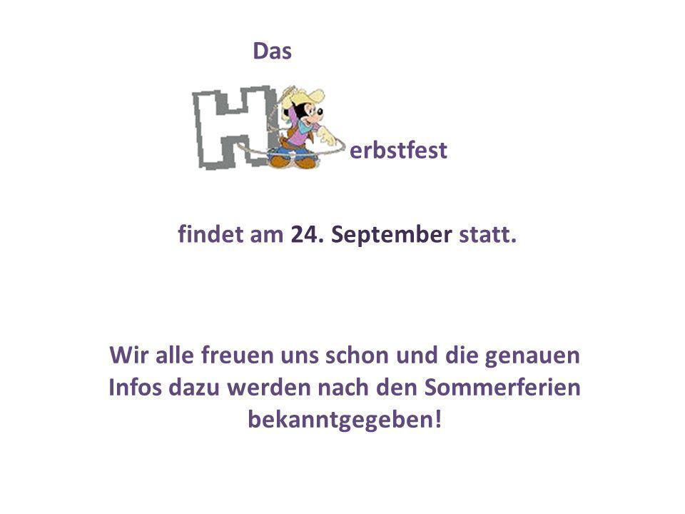 findet am 24. September statt.