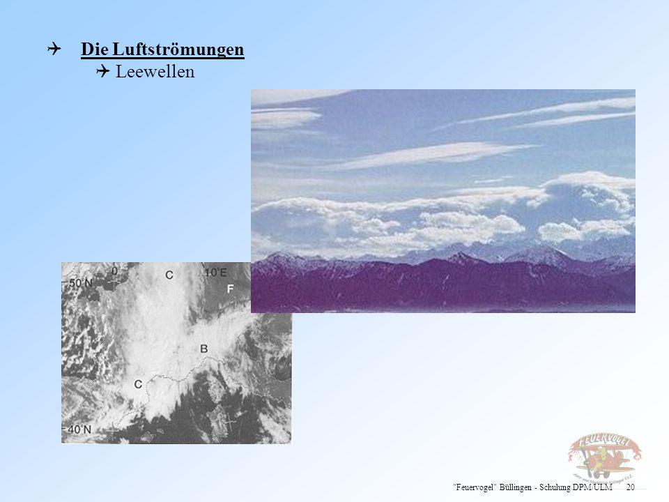 Die Luftströmungen Leewellen Feuervogel Büllingen - Schulung DPM/ULM