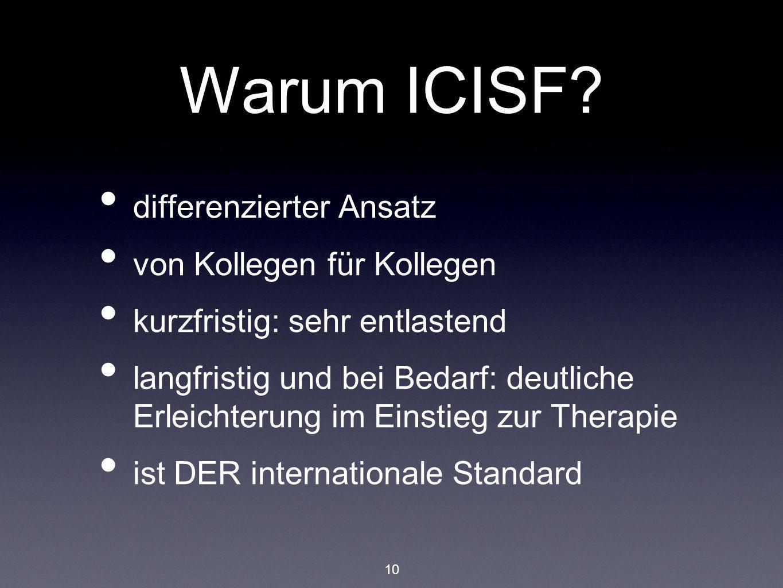 Warum ICISF differenzierter Ansatz von Kollegen für Kollegen
